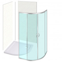 900 X 900 Quadrant Enclosure - with Shower Tray and Wall Panels