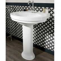 Sorento White 1 tap hole Ceramic Pedestal Basin