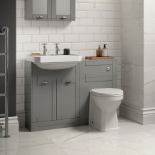 Nottingham Grey Semi Inset Combination Unit with Park Royal™  Back to Wall Toilet