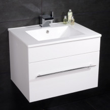 Aspen™ 60cm Wall Mounted White Vanity Unit