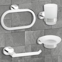 Floe 4 Piece Bathroom Accessory Pack