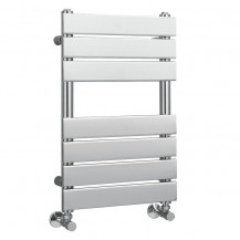 Lorenzo Beta Heat 650 x 400mm Flat Chrome Heated Towel Rail