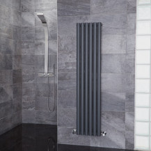 Nevada Beta Heat 1600 x 360mm Single Oval Panel Anthracite Vertical Radiator