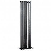 Nevada Beta Heat 1600 x 360mm Single Oval Panel Black Vertical Radiator