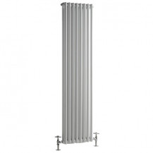 Carrera 1500 x 372mm Dual Column White Vertical Radiator