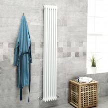 Belgravia 1800 x 287mm Tri-Column White Vertical Radiator