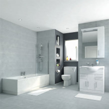 Voss 75 Vanity Unit Shower Bath Bathroom Suite