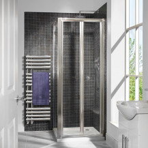 Aquafloe™ 6mm 760 Bi Fold Door Shower Enclosure