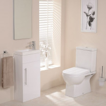 Salou Aspen White Cloakroom Furniture Pack