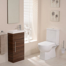 Salou Aspen Walnut Cloakroom Furniture Pack