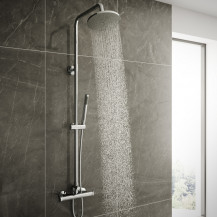 Vira Riser Slide Shower Rail Kit with Dual Valve