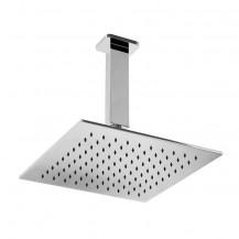 UltraThin Designer Square 200mm Shower Head & Ceiling Arm