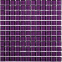 Purple Glass Wall Mosaic