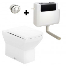 Tabor Back To Wall Toilet with Concealed Cistern