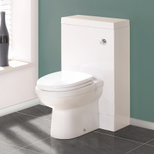 TD50 White WC Unit with Impressions Pan