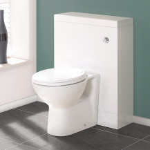 TD60 White WC Unit with Tampa™ Pan
