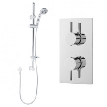 Eco Slide Shower Rail Kit with S9 Dual Valve & Wall Outlet