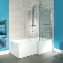 1800 x 850 Right Hand L-Shaped Shower Bath