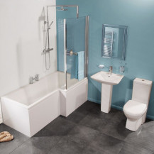Veneto 1675 Right Hand Shower Bath Suite With Taps