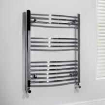 Beta Heat 760 x 500mm Curved Chrome Heated Towel Rail