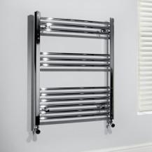 Beta Heat 760 x 500mm Straight Chrome Heated Towel Rail