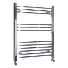 Beta Heat 760 x 600mm Straight Chrome Heated Towel Rail