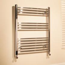 Beta Heat Electric 760 x 500mm Straight Chrome Heated Towel Rail
