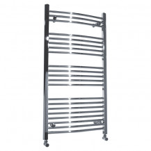 Beta Heat 1150 x 500mm Curved Chrome Heated Towel Rail