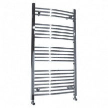 Beta Heat Electric 1150 x 500mm Curved Chrome Heated Towel Rail