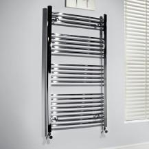 Beta Heat 1150 x 500mm Straight Chrome Heated Towel Rail