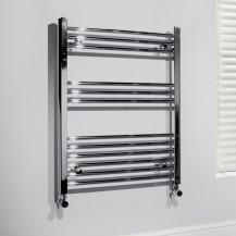 Beta Heat 760 x 600mm Straight Chrome Heated Towel Rail