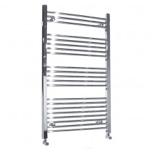 Beta Heat 1150 x 600mm Straight Chrome Heated Towel Rail