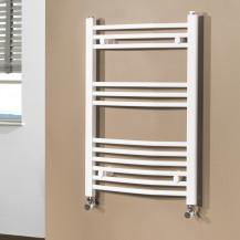 Beta Heat 760 x 500mm Curved White Heated Towel Rail