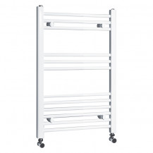 Beta Heat 760 x 500mm Straight White Heated Towel Rail