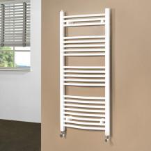 Beta Heat 1150 x 500mm Curved White Heated Towel Rail