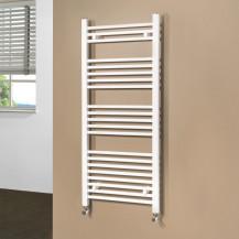 Beta Heat 1150 x 500mm Straight White Heated Towel Rail