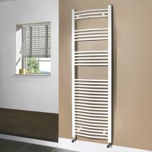Beta Heat 1700 x 500mm Curved White Heated Towel Rail