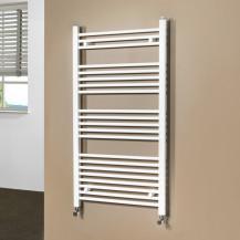 Beta Heat 1150 x 600mm Straight White Heated Towel Rail
