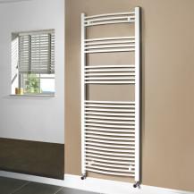 Beta Heat 1700 x 600mm Curved White Heated Towel Rail