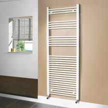 Beta Heat 1700 x 600mm Straight White Heated Towel Rail
