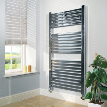 Beta Heat 1200 x 600mm Square Chrome Heated Towel Rail
