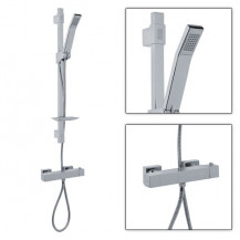 Quadro Slide Shower Rail Kit with Square Larkin Valve