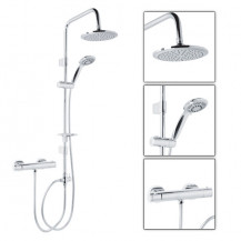 Minimalist Shower Valve With Dualex Dual Riser Rail Kit
