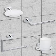 Polar 4 Piece Bathroom Accessory Pack