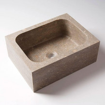 Fossil Grey Rectangular Basin