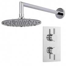 S9 Dual Valve with Rotondo Shower Head & Arm