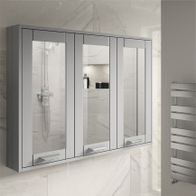 Nottingham Grey 90cm 3 Door Mirror Cabinet