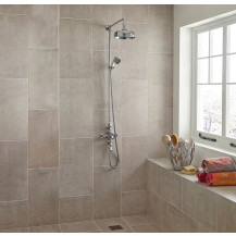 Vas Traditional Riser Shower Rail Kit with Valve