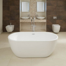 Aluna 1600 x 800mm Double Ended Freestanding Bath Tub