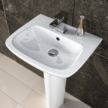 Premier  Ambrose 500mm One Tap Hole Basin & Semi Pedestal